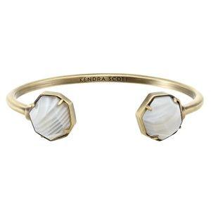 Kendra Scott Brinkley Bracelet ~White Banded Agate